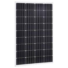 Panel słoneczny, 120 W, monokrystaliczny, aluminium i szkło