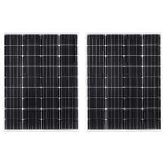 Panele słoneczne 2 szt. 100 W monokrystaliczne, aluminium/szkło