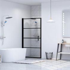 Drzwi prysznicowe, hartowane szkło, 81 x 195 cm, czarne