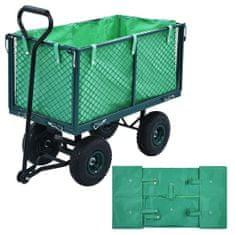 Wyściółka do wózka ogrodowego, zielona, tkanina
