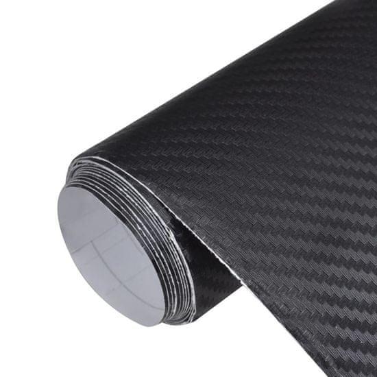 3D vinylová fólia do auta z karbonového vlákna, 152 x 200 cm