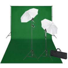 shumee Studiová sada světel a zeleného pozadí 600 x 300 cm