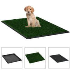 shumee Domáca toaleta pre psy s podnosom a umelou trávou zelená 64x51x3 cm