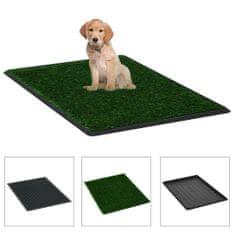shumee Domáca toaleta pre psy s podnosom a umelou trávou zelená 76x51x3 cm