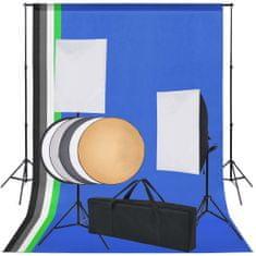shumee Profesionální foto studio set: 5 barevných pozadí a 2 softboxy