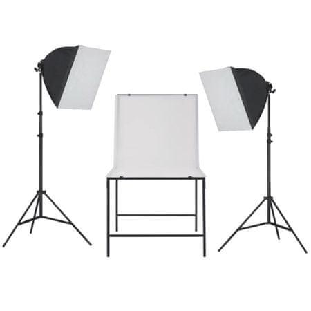 shumee Zestaw oświetleniowy softbox do studia ze stołem fotograficznym