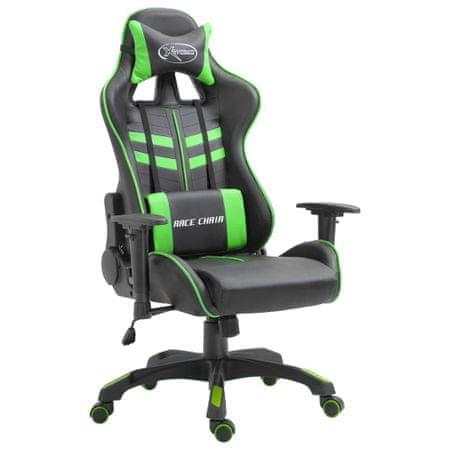 shumee Gaming stol zeleno umetno usnje