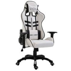 Herná stolička, čierna, umelá koža