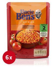 Uncle Ben's RTH Mediteran riž, v vrečki, 6 x 250 g
