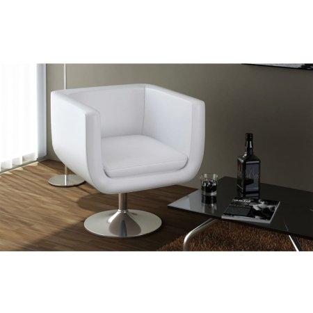 shumee Barski stolček belo umetno usnje