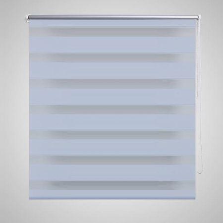 Roleta w pasy (80 x 150 cm) biała