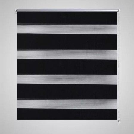 Roleta Zebra 140 x 175 cm Czarna