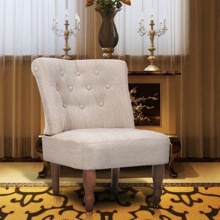 shumee krémszínű szövetkárpitozású francia fotel