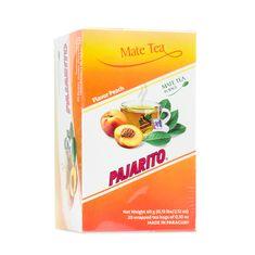 Pajarito Čaj maté - Broskev, čajové sáčky 20x 3g