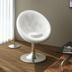 Barová stolička, biela, umelá koža