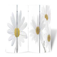 Skladací paraván 160x170 cm potlač kvetov