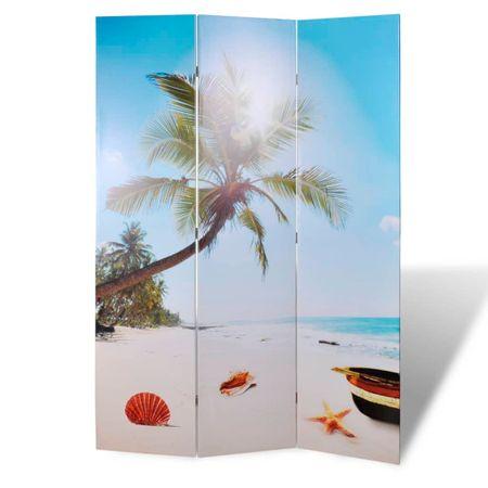 shumee Składany parawan, 120x170 cm, motyw plaży