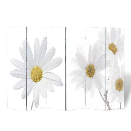 shumee Składany parawan, 240x170 cm, motyw kwiatowy