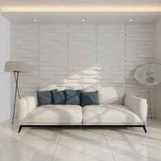 Nástenný panel 3D vlna 0,625 m x 0,8 m 12ks 6m²