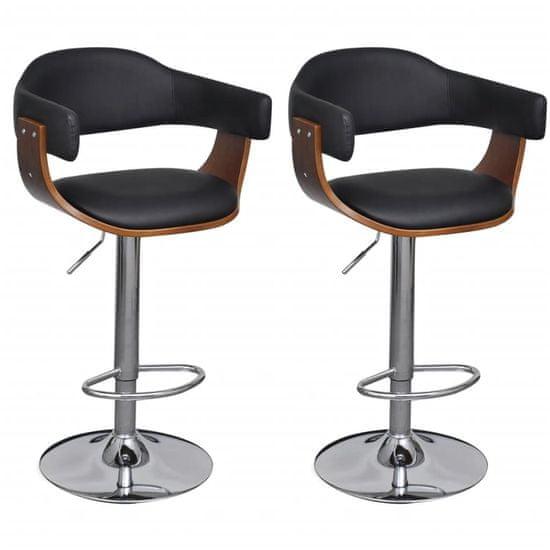 Barové stoličky 2 ks, umelá koža