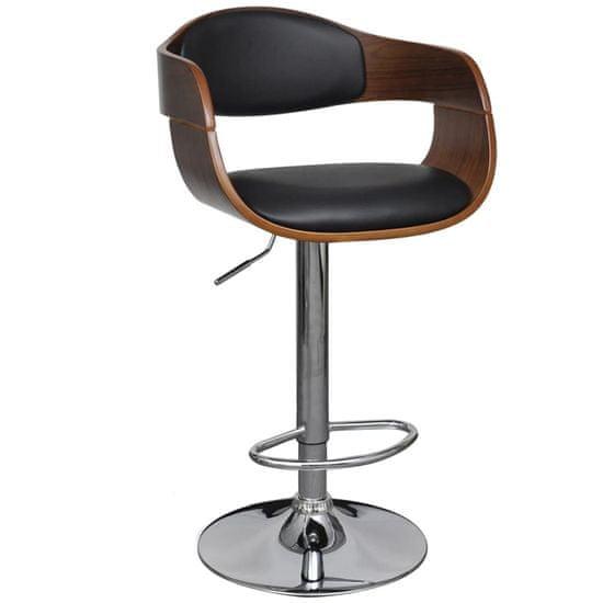 Barová stolička, ohýbané drevo a umelá koža