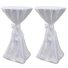 shumee Biały obrus ze wstążką, 70 cm, 2 sztuki