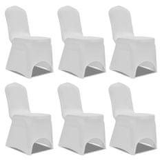 shumee Białe elastyczne pokrowce na krzesła, 6 szt.