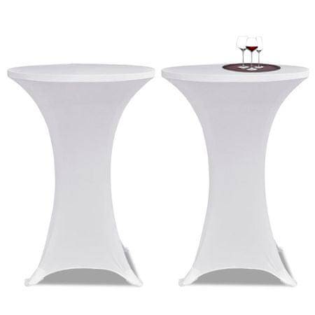 shumee Állandó Asztali Burkolat Ø70 Fehér Nyujtható 2 db
