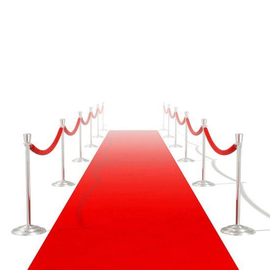 Červený koberec - 1 x 10 m, extra ťažký 400 g/m2