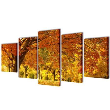 shumee Nyomtatott vászon falikép szett juharfa 200 x 100 cm