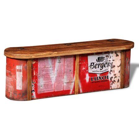 shumee Tömör újrahasznosított fa kisszekrény/tárolópad