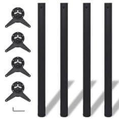 shumee 4 stolové nohy s nastavitelnou výškou černé, 870 mm