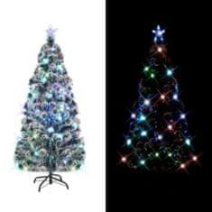 Umělý vánoční stromek se stojanem a LED 210 cm 280 větviček