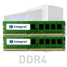Integral 32GB kit (2x16GB) RAM memorija, DDR4, 2666MHz, UDIMM, PC4-21300, CL19, 1,2V (IN4T16GNELSIK2)
