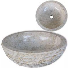 shumee Umývadlo, mramor 40 cm, krémové