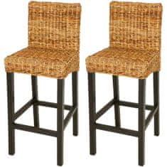 shumee Barové židle 2 ks abaka