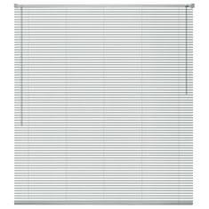 Vidaxl Okenní žaluzie hliník 100x130 cm stříbrná