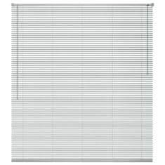 Vidaxl Okenní žaluzie hliník 140x130 cm stříbrná