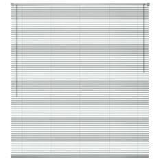 Vidaxl Okenní žaluzie hliník 100x160 cm stříbrná