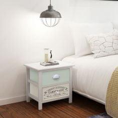 shumee Noční stolek ve francouzském stylu dřevěný