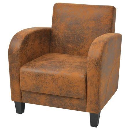 shumee barna művelúr fotel