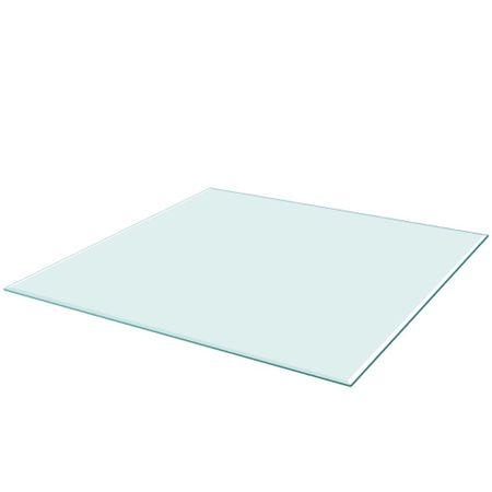 shumee edzett üveg asztallap négyszögletes 800x800 mm