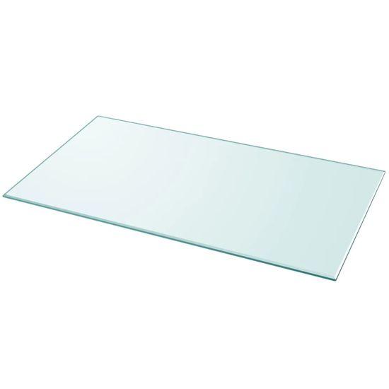 Vidaxl Stolní deska z tvrzeného skla obdélníková 1200x650 mm