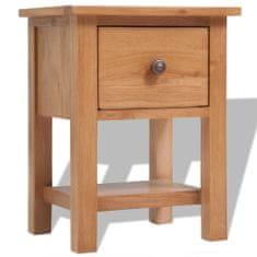 shumee Noční stolek 36 x 30 x 47 cm masivní dubové dřevo