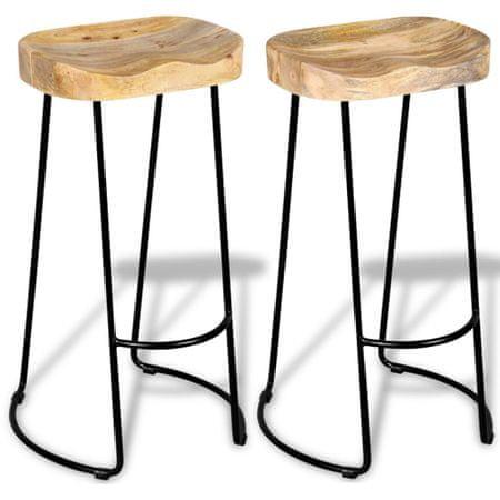 shumee Barski stolčki 2 kosa trden mangov les