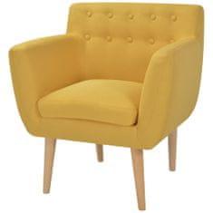 shumee Křeslo žluté textil
