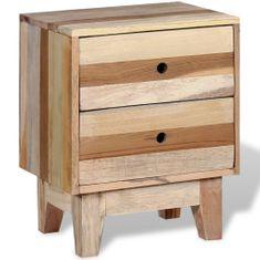 shumee tömör újrahasznosított fa éjjeli szekrény