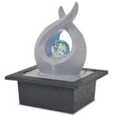 Fontanna pokojowa ze światłem LED, żywica poliestrowa