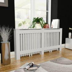 shumee Kryt na radiátor z MDF, biely, 172 cm