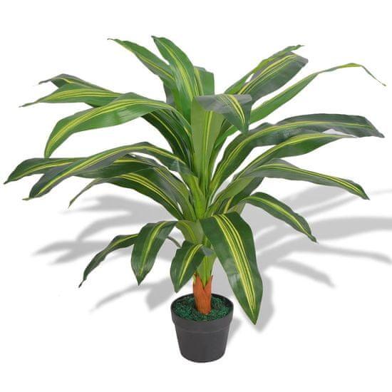 Umelá rastlina, dracéna s kvetináčom 90 cm, zelená